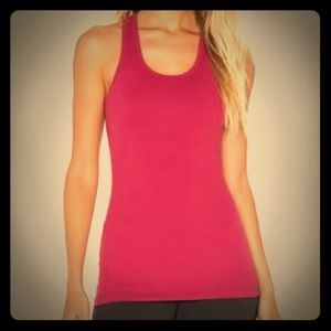 Racerback workout top with built in bra